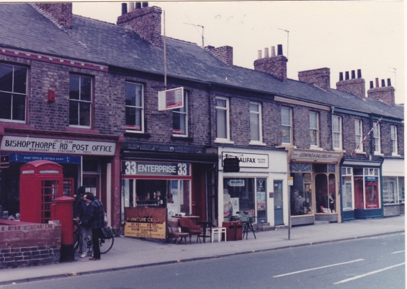 Bishopthorpe Road with Post Office 1984