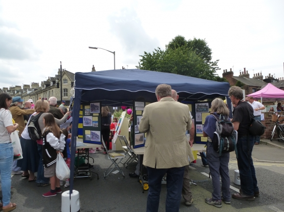 History Group stall at Bishy Road St Party