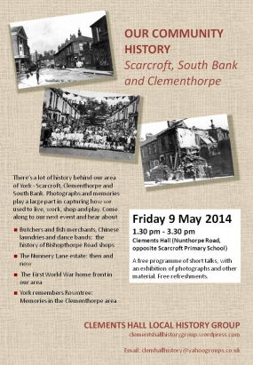 Our community history event poster May 2014
