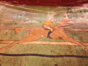 Floor motif at the Winning Post
