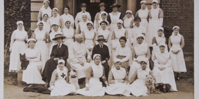 VADs and Staff of Nunthorpe Hall 1918
