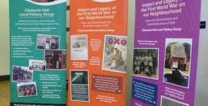History Group banner stands